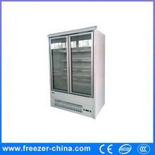 glass door showcase chillers/upright glass door refrigerator,upright glass door refrigerator with ETL