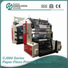 CJ884 Series 4 color high speed flexo printing machine with Auto loader & auto unloader material unit
