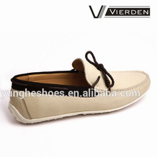 2014 Casual beautiful lace shoe design men beige shoes 0605-3