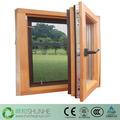 china precio de loe templado de vidrio de la ventana de madera diseños de marcos