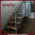 trilhos de vidro escadas modelos dentro de casa