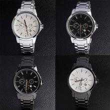 Luxury Stainless Steel Business Watch For Gentle Man Men Quartz Wrist Watch With Waterproof Calendar Function