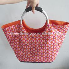Lovely Canvas Shoulder Bag Shopping Tote Bag With Side Pockets for Sales