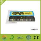 Wooden black color domino set