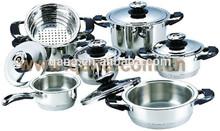 Nice design mirror polish 13PCS solingenn cookware set replacement temperature sensor