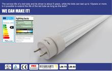 Optional Lighting Angle 180 Degree Rotatable End T8 LED Tube Series