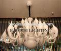 Sıcak satış dekoratif üfleme antika beyaz led sanat cam levha avize ev, otel, villa, KTV, kulübü ve restoran deco