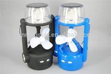 WINNING STAR solar camping LED lantern with fan