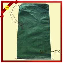 High quality plastic bag with string/green pp woven bag/woven bags recycle 100 cheap