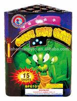 Small cakes fireworks COLORFUL SPRING GARDEN 15 Shots 200 gram Consumer Cake Fireworks for wholesale