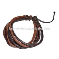 black leather popper bracelet
