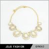 2014 Fashion acrylic Rhinestone Pendant beautiful gold Necklace