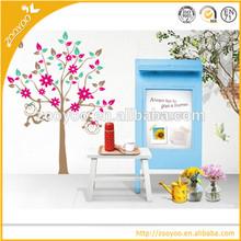 3d çıkarılabilir pvc duvar sticker/duvar çıkartma aile ağacı bebek ev dekorasyonu