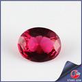 calidad superior de la venta a granel de vidrio de cristal de rubí oval