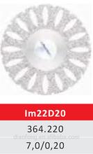Im22D20 22mm Flexible Miniature Perforated Dental Full Coated Diamond Disc