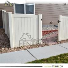 Useful high quality pvc/vinyl/plastic garden fence panels factory