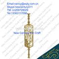 ornamental aluminum pipe handrail /luxury indoor gold aluminum