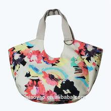 Fashion Reusable Canvas Flower Print shopping bag