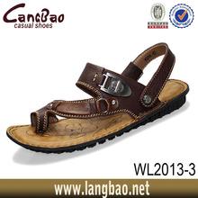 men leather aerosoft sandals