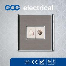 Pakistan design power plug switch and socket,tv and tel socket outlet,tv and tel wall socket