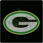 Green b a y sports team rhinestone t shirt rhinestone design wholesale