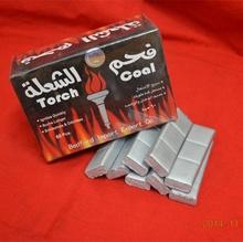 HongQiang export burning silver torch coal for hookah