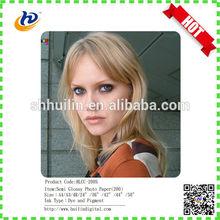 Wide format Semi glossy inkjet photo paper 180gr roll