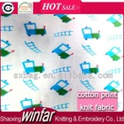 single jersey knitting cartoon printed 100 cotton fabric manufacturers for garment
