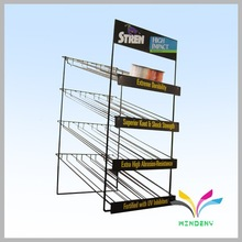 New design floor stand 4 tiers metal foldable shop boutique display rack