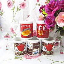 LY ---mug wholesale Irish creative coffee mugs, Nescafe red mug 8oz ceramic coffee mug,custom white enamel ceramic coffee mug