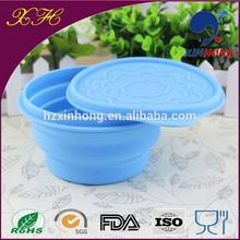 Microwave Safe FDA Silicone Food Grade Product Silicone Fruit Bowl Folding