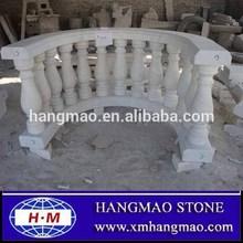 Guangxi white marble handrail