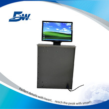 aluminum panel lcd monitor motorized lift for computer room