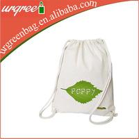 Photo Printing Cotton Fabric Drawstring Backpack