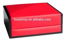 customized velvet inserted wooden packing box