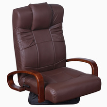 low rotating Genuine leather single sofa chair B103 for study