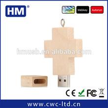 64gb alibaba bulk cheap wooden cross shape bulk wood usb flash drive