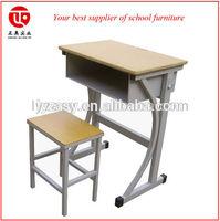 School furniture single used school desk chair for secondary school