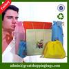 screen printing fashional wholesale non woven drawstring bag