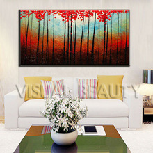 Red Trees Oil Painting by Artist