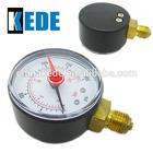 50mm dial bourdon tube bottom pressure gauge