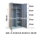 foshan furniture modern cheap steel wardrobe design/metal clothes closet