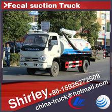 Novo caminhão de sucção fecal, mini aspirador de sucção do caminhão, esgoto de sucção do caminhão de venda