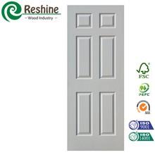 Designed molded hdf primer white wooden door skin