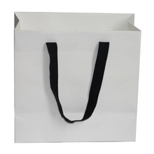 kraft paper bag with handle glued in turntop