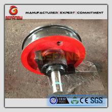 high pressure rail steel bogie wheel