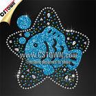 Pisces zodiac custom glitter hot fix motif rhinestone templates