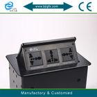 Multimedia Pop up desktop Aluminium power Sockets