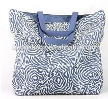 China Factory Price Portable Reusable Handle Cotton Lady Shopping Bag