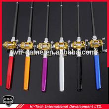 2014 Favorites Mini Pocket Pen Fish Fishing Rod + Mini Reel + Line Aluminium Set